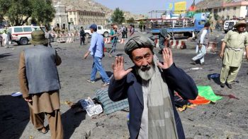 Deadly blast hits Afghanistan demonstration
