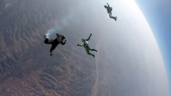 Watch: Skydiver jumps without a parachute