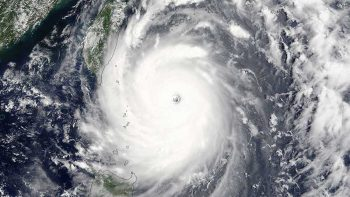 Super typhoon Nepartak approaching Taiwan