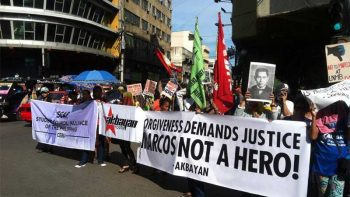 Massive protest against Marcos burial set Friday