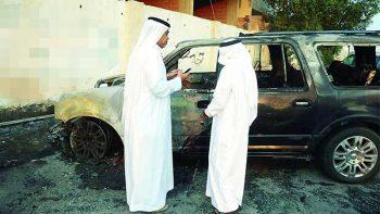 Saudi students accused of setting principal's car on fire