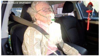 Police rescue 'frozen woman'