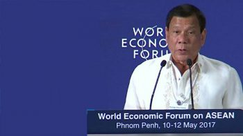 Duterte seeks WEF backing in drug war