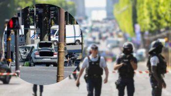 Explosive-laden vehicle rams into police van in Paris
