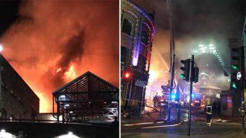 Fire hits London's Camden Market