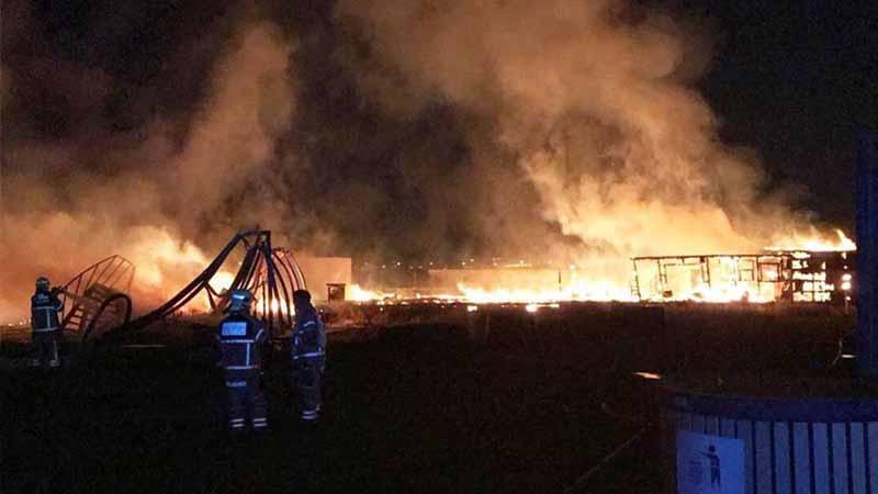 Fire hits Al Warsan labour camp - Expat Media