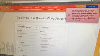 iDOLE OFW ID online registration testing underway