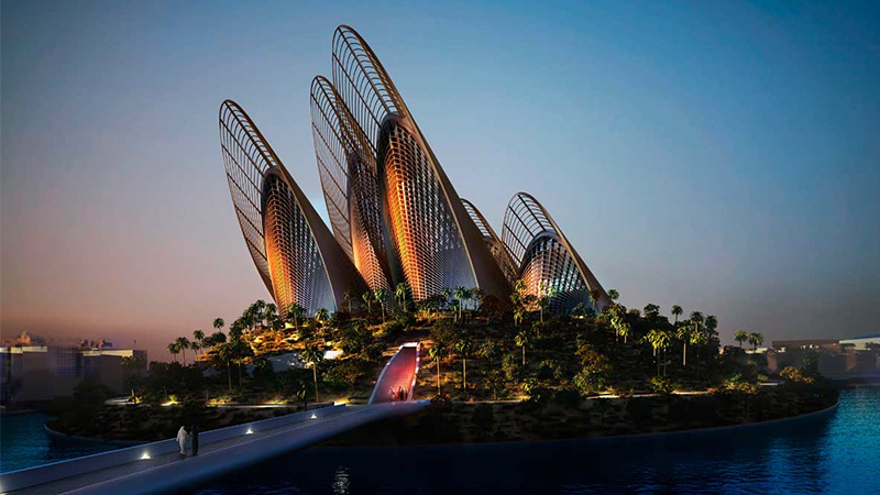 A digital rendering of the Zayed National Museum