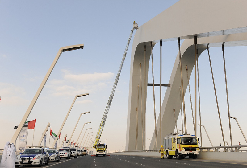 A man who attempted to jump of Sheikh Zayed Bridge on November 13, 2017 has been rescued. ABU DHABI POLICE