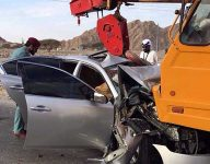 Two killed after car crashes into crane in Ras Al Khaimah