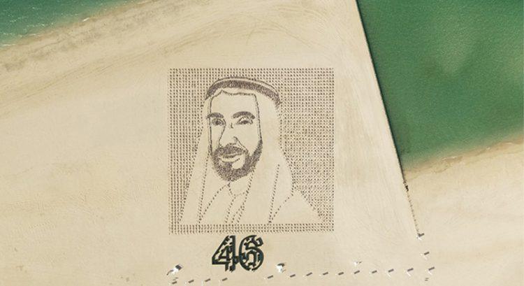 Watch: 4,000 flags planted on Dubai Kite Beach for amazing Sheikh Zayed portrait