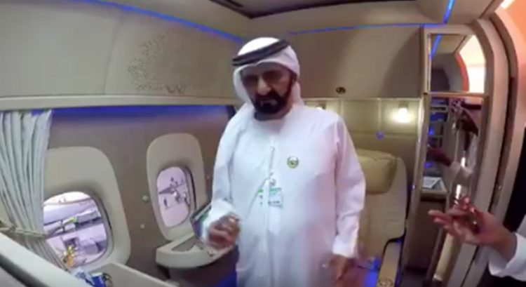 WATCH: Sheikh Mohammad checks out 'six-star hotel room' in the sky