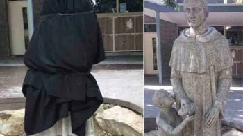 Controversial statue stirs social media uproar