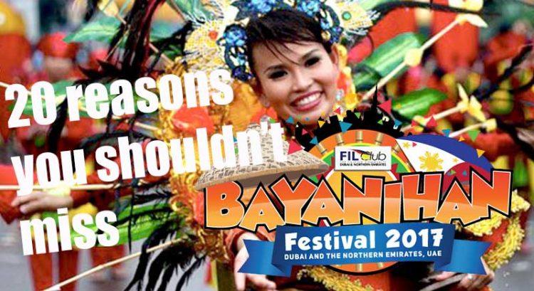 20 reasons not to miss Bayanihan Festival 2017 in Dubai