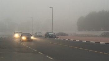 UAE weather forecast: more fog, rain expected