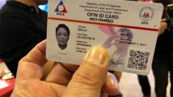 iDOLE OFW ID available to these Filipinos