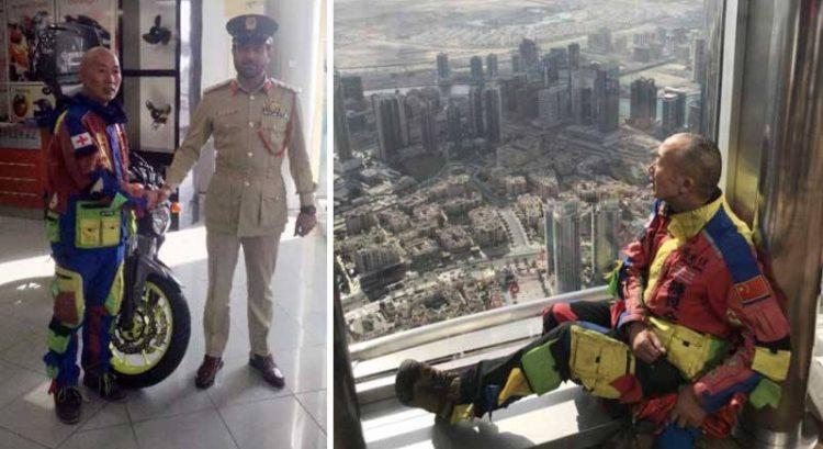 Serial traveller loses motorbike in UAE, gets big surprise