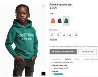 H&M apologises for 'coolest monkey' sweatshirt