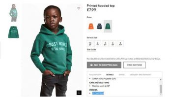 H&M apologises for 'coolest monkey' sweatshirt