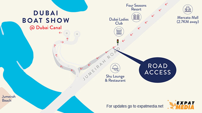Dubai Boat Show Map