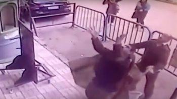 Watch: Policeman saves boy who fell off balcony
