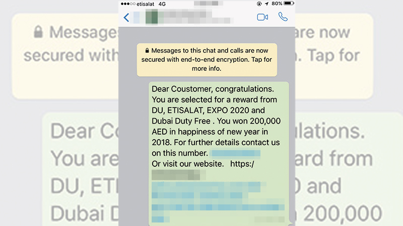 Scammers now targeting UAE victims on WhatsApp