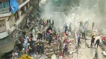 India building collapse: Rescue efforts underway