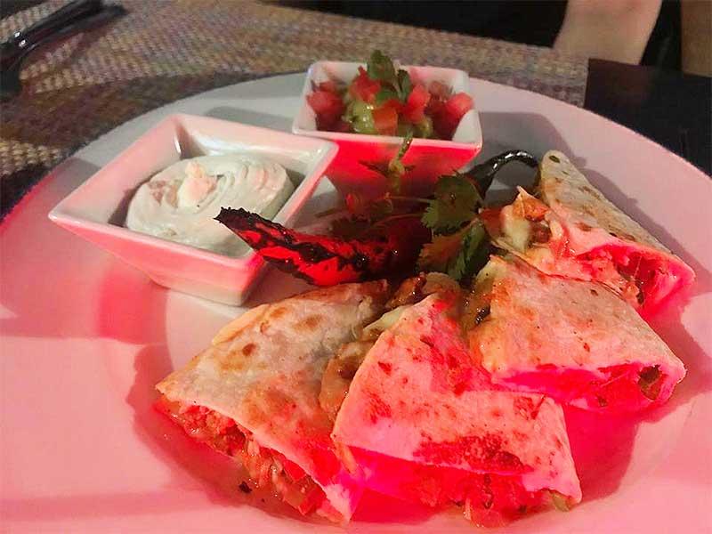 cactus jacks crab quesadillas