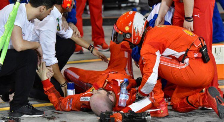 Ferrari mechanic breaks leg in Raikkonen accident in Bahrain