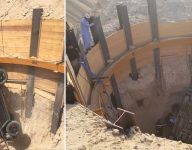 Man rescued after car plunges into 15-metre hole in Dubai