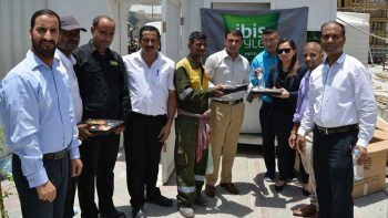 ibis Styles Jumeira hands out iftar to labourers
