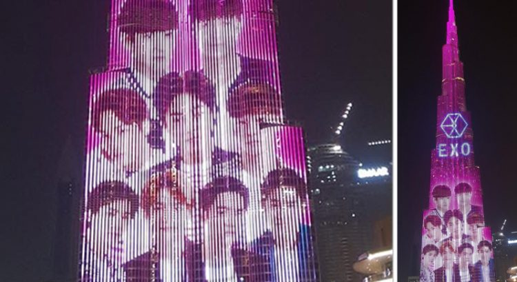 Watch: K-pop group EXO's star power lights up Burj Khalifa