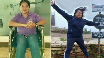 Filipina expat conquers rare disease with Nepal trek