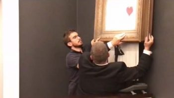 WATCH: Banksy art self-destructs after selling at auction