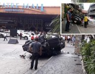 Philippine senator's father-in-law hurt as vehicle falls from car park