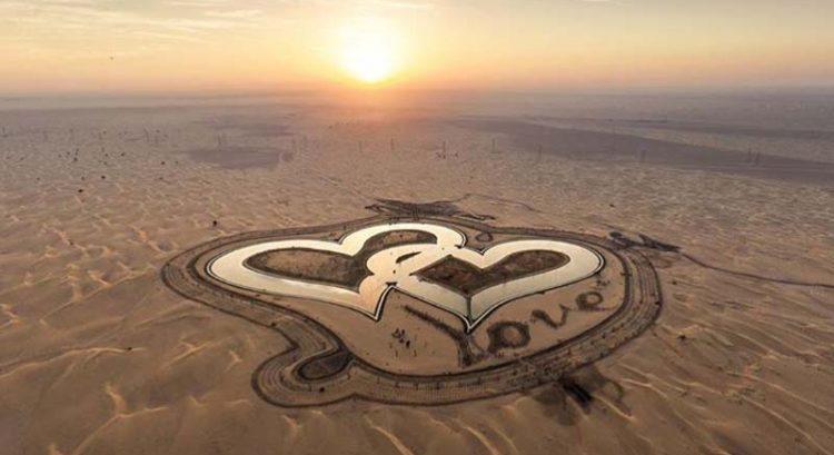 Dubai Crown Prince unveils new 'love lake'