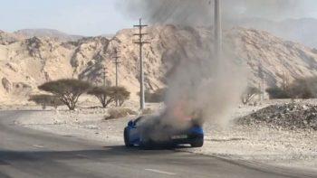 Lamborghini catches fire in Ras Al Khaimah, probe underway