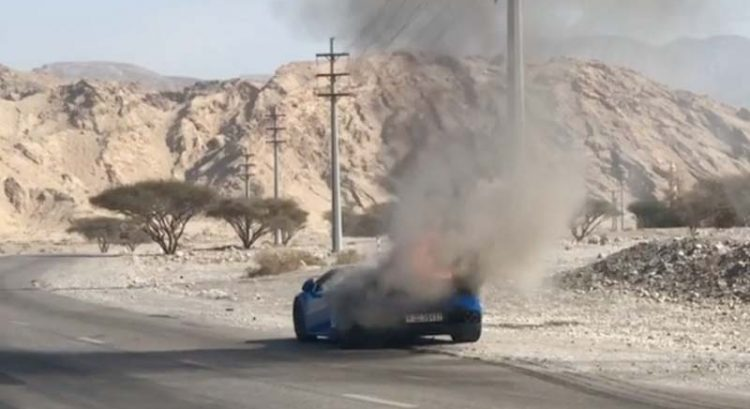 Lamborghini catches fire in Ras Al Khaimah, probe underway