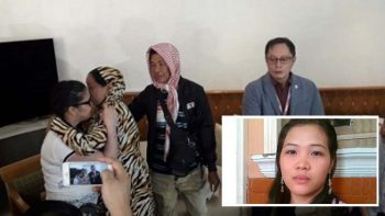 Filipina saved from UAE death row returns home
