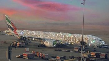 Emirates unveils diamond-encrusted 'Bling 777'