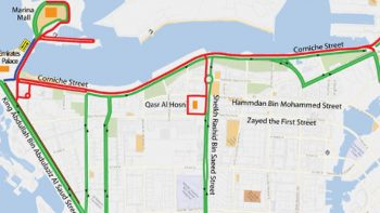 Avoid these Abu Dhabi roads on Friday