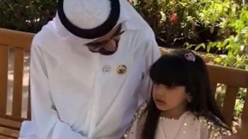 Sheikh Mohammed visits girl who cried over missed call