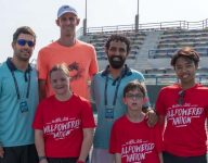 Kevin Anderson trains Special Olympics athletes in Abu Dhabi