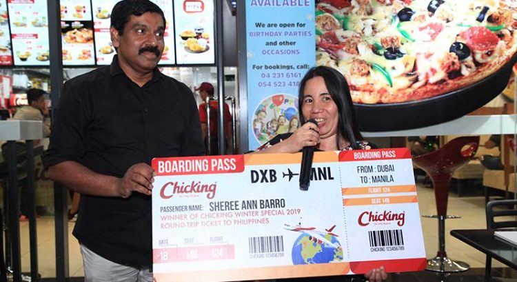 Dubai expat wins trip to Philippines with Dh25 meal