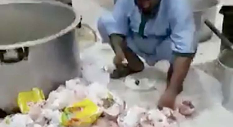 Caught on video: Food dumped on floor used in RAK kitchen