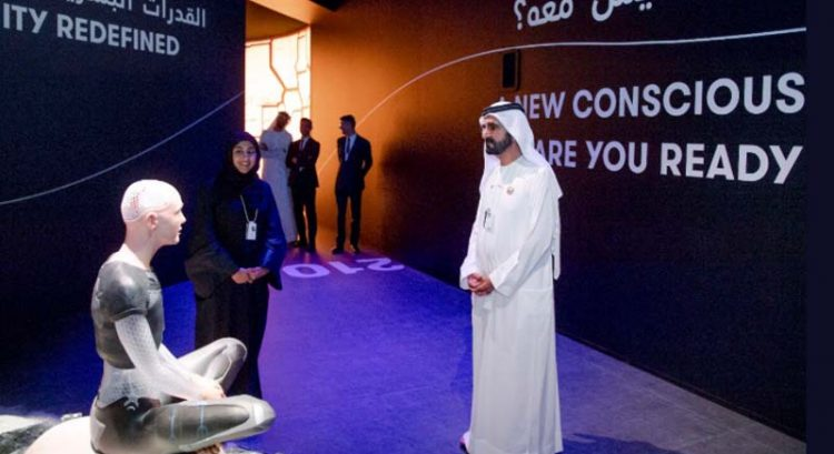 Sheikh Mohammed meets AI in peek inside mock Museum of the Future