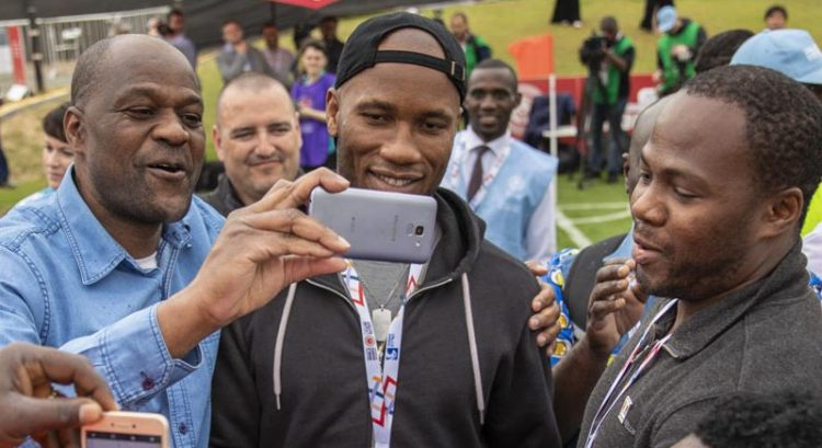 Didier Drogba, Cafu play alongside Special Olympics athletes in Abu Dhabi