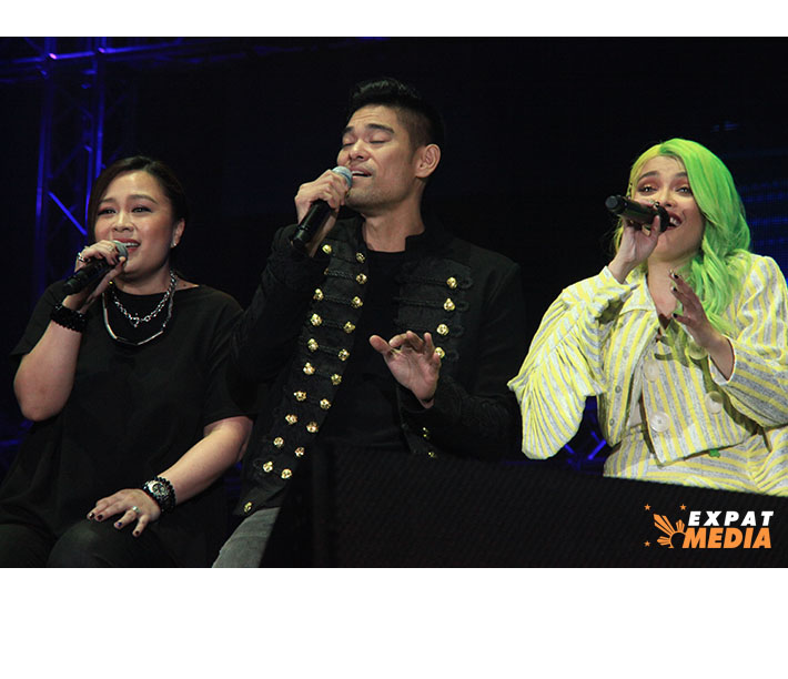 Jay R and KZ Tandingan in Dubai on March 22, 2019.