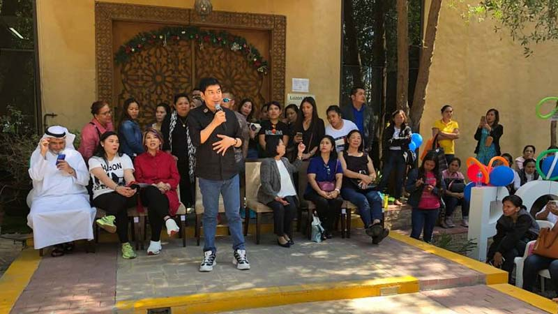 Raffy Tulfo at Polo Owwa in Dubai on March 9, 2019