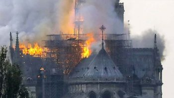 Fire ravages Notre Dame cathedral in Paris